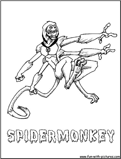 free spider monkey coloring pages