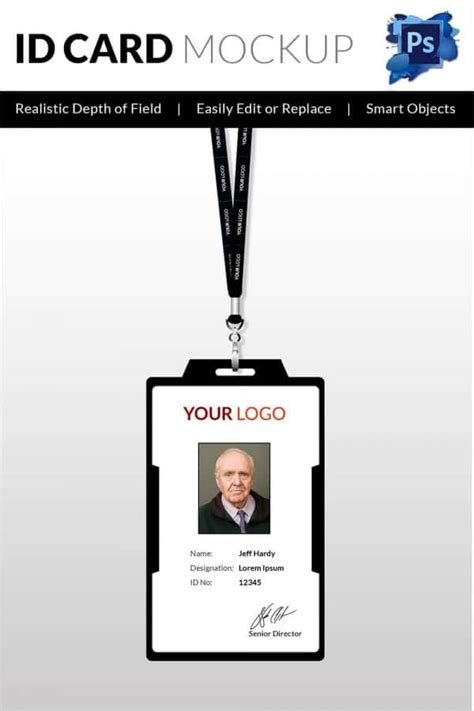 photo id card template photoshop 30 blank id card templates free word psd eps formats