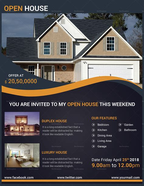 Open House Flyer Template Publisher