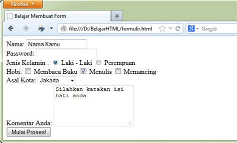 membuat form upload wordpress belajar html dasar membuat form di html tag form