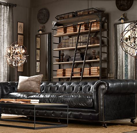 restoration hardware modern chesterfield sofa don t be bilked by bonded leather design intervention diary