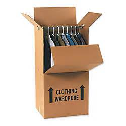 home depot wardrobe box 20inl x 20inw x 45ind corrugated wardrobe shipping boxes