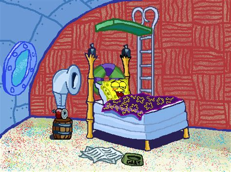 spongebob in bed spongebob s bedroom by smart art25 on deviantart