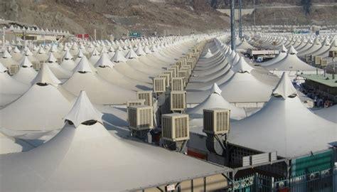 Tenda Nikahan 2018 persiapan haji 2018 tenda tenda mina dipasang pendingin udara baru jakarta islamic centre