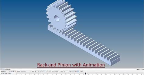 Solidworks Rack Pinion Mate by 3d Solid Modelling Rack And Pinion With Animation