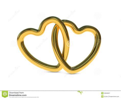 imagenes de corazones oro anillos entrelazados del coraz 243 n del oro stock de