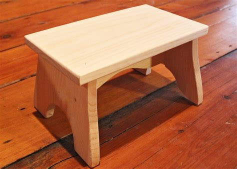 Unfinished Pine Step Stool by Unfinished Wood Step Stool Unfinished Stools Wooden