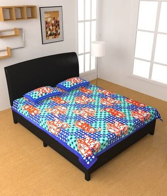100 thesweethome sheets bed sheet rangilo rajasthan buy shop rajasthan pure 100 cotton double bed sheet with