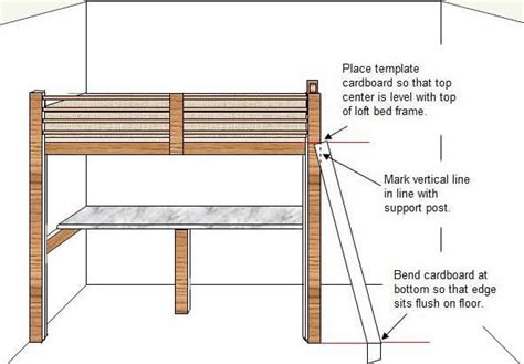 Bunk Bed Template How To Build A Budget Loft Bed Woodworking Plans Part 5