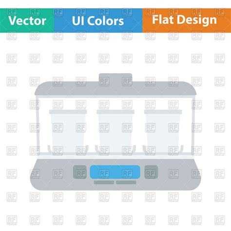flat design video maker flat design of yogurt maker machine icon in ui colors