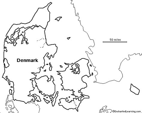 denmark map coloring page outline map research activity 2 denmark