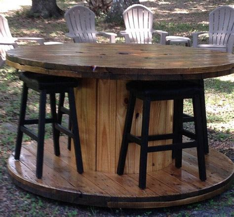 wire spool bench wire spool table