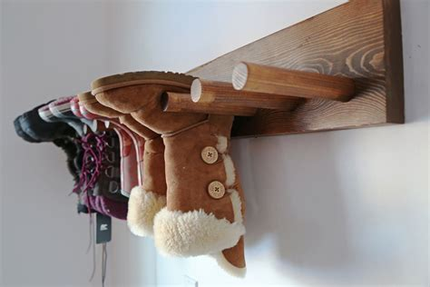 Boot Rack Diy white wall boot rack plans diy projects