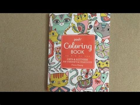 posh coloring book review posh coloring book cats kittens for comfort