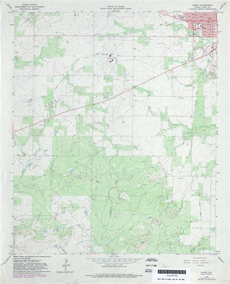 olney texas map texas topographic maps perry casta 241 eda map collection ut library