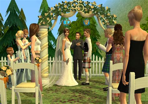 how to set up a wedding in sims 3 wedding arch the sims wiki fandom powered by wikia