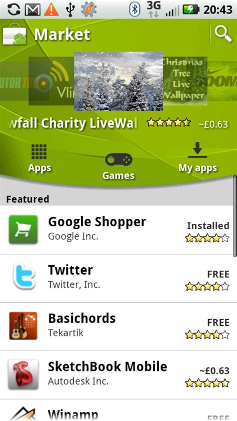 new apk apps for android nexus s now also getting new android market talkandroid