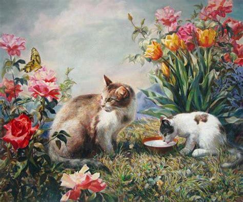 painting kitten kitten paintings cats dinner svitozar nenyuk