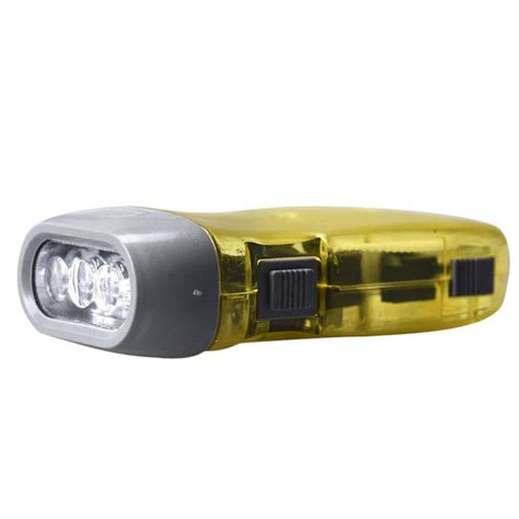 3 Led Dynamo Wind Up Flashlight Nr Torch Light Cing novelty 3 led dynamo wind up flashlight pressing crank nr no battery torch ebay