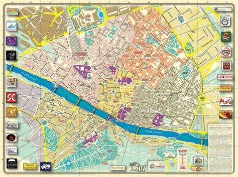 map of florence italy maps update 26001808 florence italy tourist map florence maps top tourist attractions free