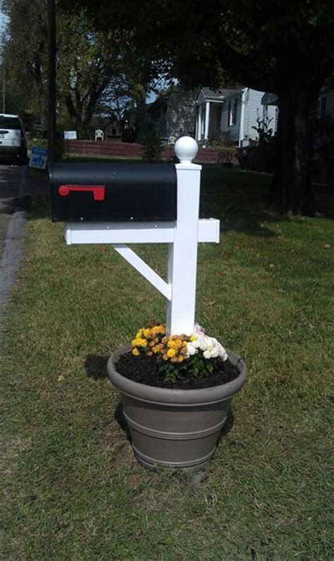 no more snapped or rotted mailbox posts flower pot