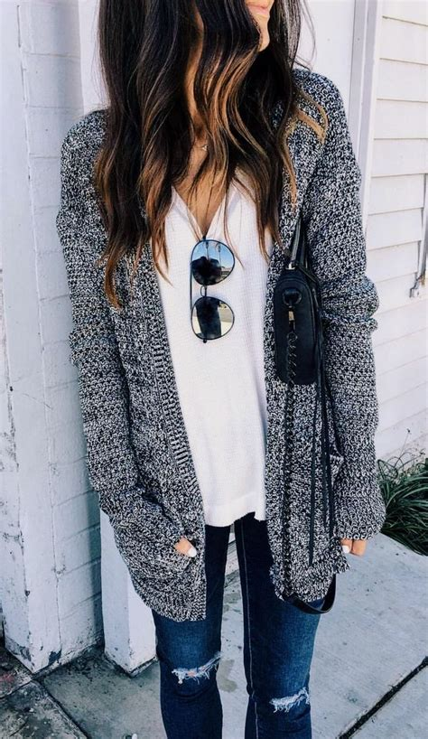 Trend Worth Trying White Gray Sweaters by Gray Knit Sweater With A White Winter