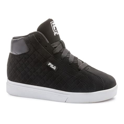 best athletic shoes for boys fila boy s oxidize 2 black white high top athletic shoe