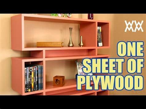 bookcase   single sheet  plywood youtube