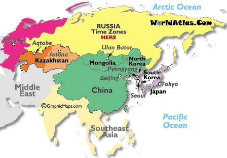 middle east time zone map asia asia time zones map