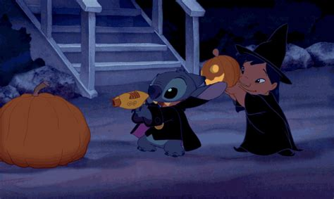 lilo  stitch halloween gif  disney find share