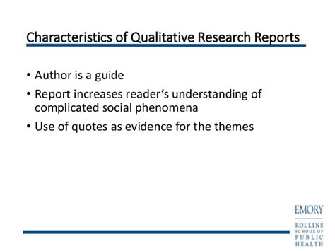 reporting themes in qualitative research writing qualitative research reports powerpoint