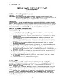 Coding Clerk Sle Resume by Doc 644827 Coder Sle Resume Insurance Biller Description Bizdoska