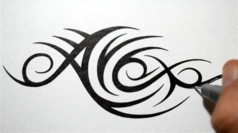 tribal tattoo with name designing tribal name design alex doovi