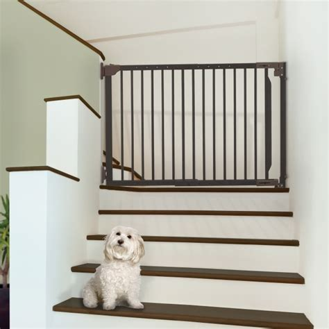 expandable dog gates for the house pet gates for stairs expandable walk thru pet gate richell
