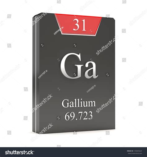 Ga On Periodic Table by Gallium Ga 31 From Periodic Table Stock Photo