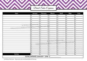 tax organizer template printable direct sales planner editable
