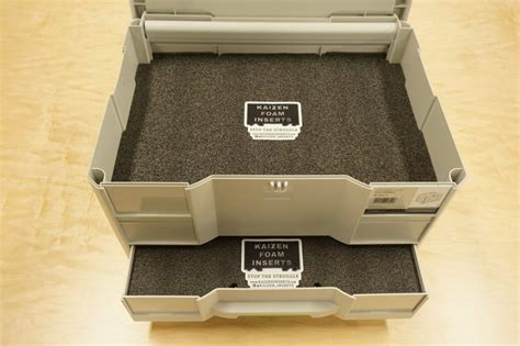 tool box drawer foam inserts festool sys combi 2 systainer top only kaizen foam