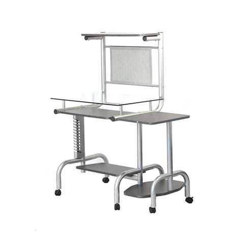 escritorio vidrio escritorio para pc multi niveles con base de vidrio el