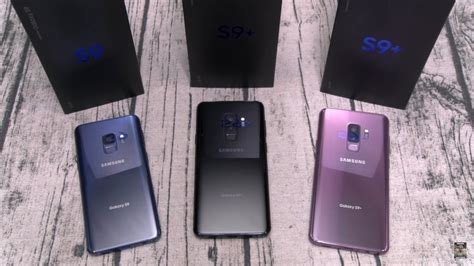 samsung galaxy s9 and s9 plus unboxing all 3 colors