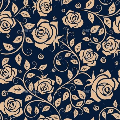medieval pattern texture medieval seamless pattern with roses by seamartini