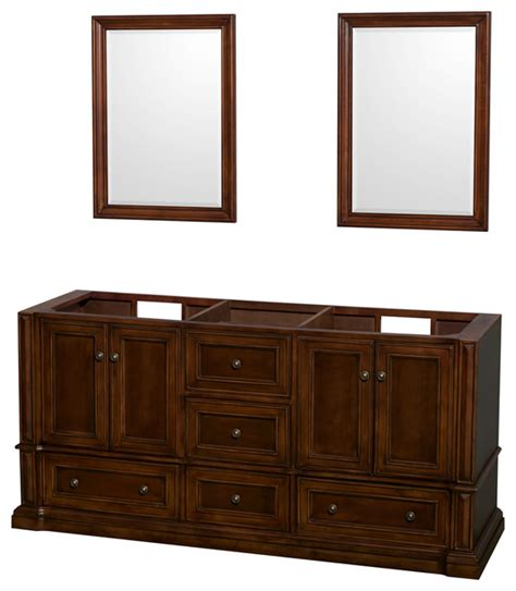 bathroom vanities no top rochester 72 quot cherry vanity no top no sinks mirrors