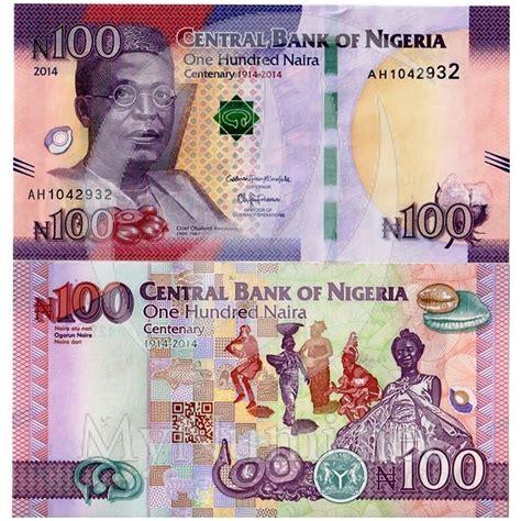 Premium Product 1slup Pastan Naira 1 2014 banconota nigeria 100 naira quot centenary quot pnew fds