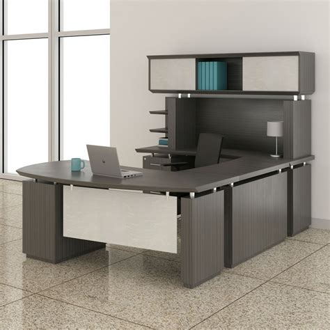 mayline sterling u shaped left handed 72 quot desk with hutch
