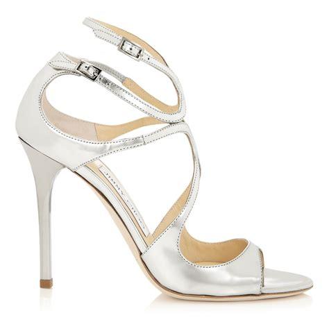jimmy choo silver sandals jimmy choo lang sandals in silver grey lyst