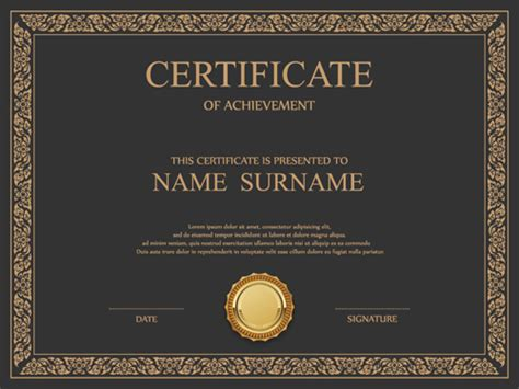 certificate templates for photoshop free download certificate of appreciation psd template choice image