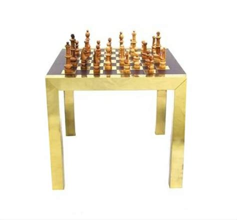 modern chess table paul evans modern chess set game table at 1stdibs