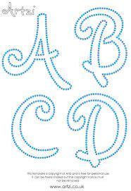 String Alphabet - free printable string patterns images craft