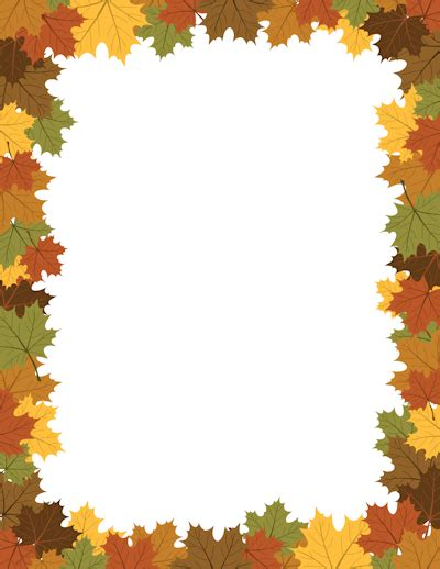 Page Borders Free Printable Borders And Clip Art Fall Border Templates