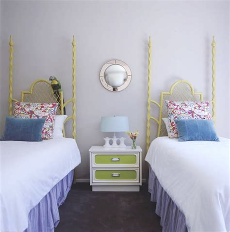 2 beds in 1 decorating girls room with two twin beds room design ideas