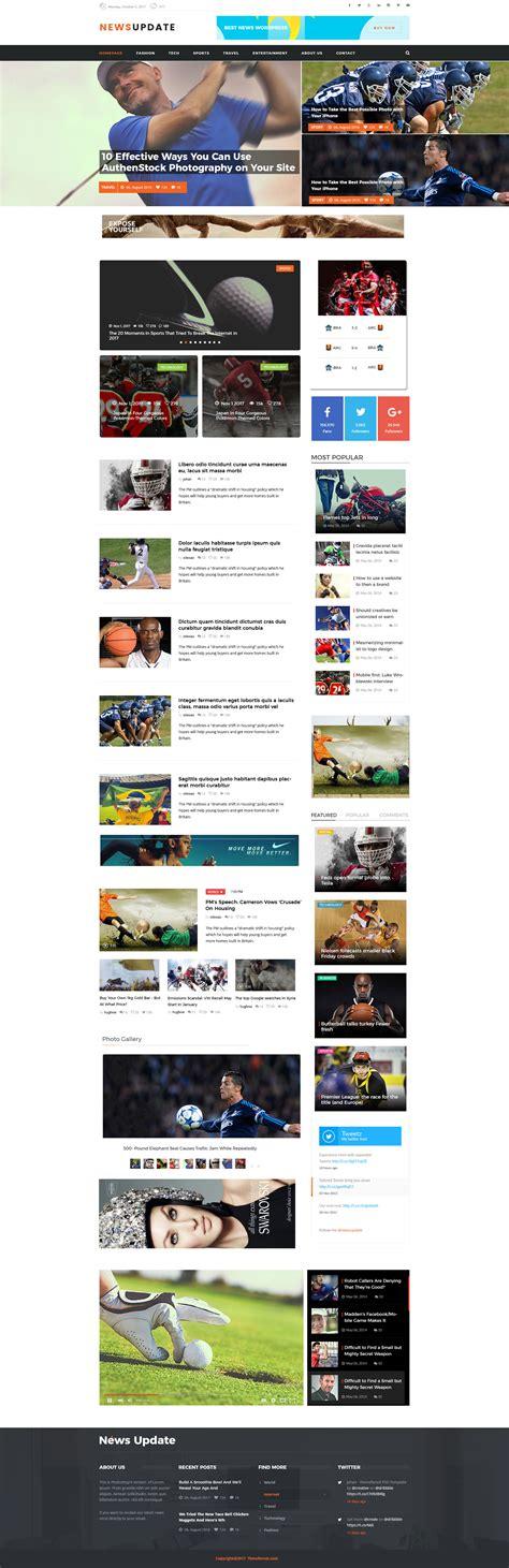 newspaper theme update news update blog psd template by themexlab themeforest